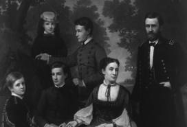 Ulysses Grant Surrounded By His Wife Julia And Four Children Fred Jr Buck Nellie Jesse